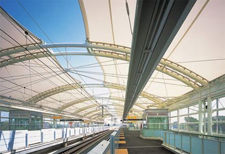 Kenkyu Gakuen station / platform&station square